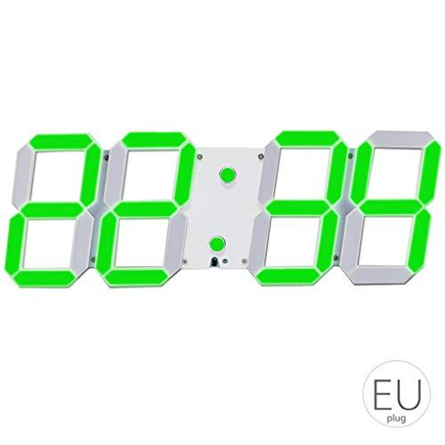12 Stunden Elektronischer Timer (LED Skeleton Hohlwand- Wecker Multi-Funktions-Timer 24/12 Stunden-Anzeige elektronische Digitaluhr mit Fernbedienung Sunlera)