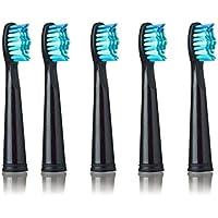 5pcs Tête de brosse à dents électrique antibactérien automatique Brosse à dents Têtes de remplacement pour Seago...