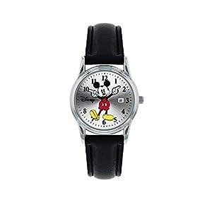 41btXTXYwjL. SS300 Mickey Mouse Orologio Analogico Quarzo Donna con Cinturino in Pelle MK1003