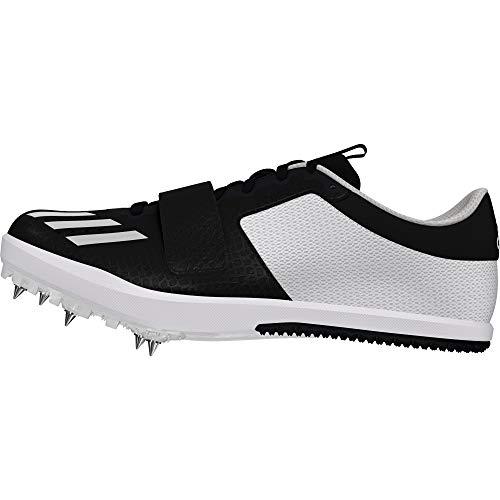 scarpe chiodate adidas jumpstar black white uomo
