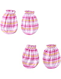 Wonderkids Pink Stripes Print Baby Mittens Pack of 2 (0 - 6 Months)