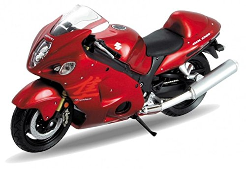 welly-suzuki-hayabusa-red-and-black-bike-118-scale-diecast-model