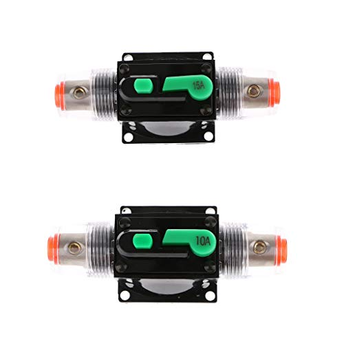 F Fityle Disjoncteurs /à Montage 12v-24v DC Etanche Disjoncteur /à R/éarmement 80A 200A Manuel pour Panneau Pare-Feu