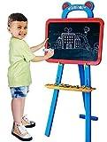 Quickdraw 3 in 1 Kinder doppelseitig Lernen Tafel Staffelei Magnettafel mit magnetischem Briefe & Zahlen