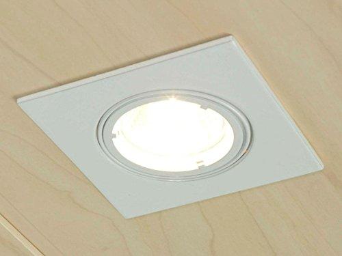 Preisvergleich Produktbild 10er SET 2er SET Einbauleuchte Halogen-Spot Strahler 12V Hochglanz Weiß G5.3 / MR16