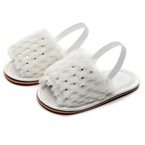 YpingLonk ❣ Baby männlich Baby Mädchen Fluff Pailletten Kleinkind Schuhe Sandalen Pantoffeln Solid Flock weiche Sandalen Slipper Freizeitschuhe Patent Open Toe Plattform
