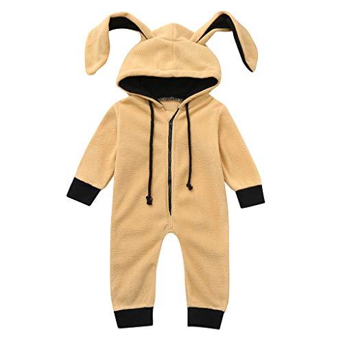 bobo4818 Neugeborenes Baby Hoodie Strampler Outfit, Infant Warme Tier Snowsuit Jumpsuit Kostüm (12-18 Months, Khaki)