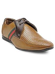Adreno Mens Pedro Formal Shoes (8 UK, Beige)