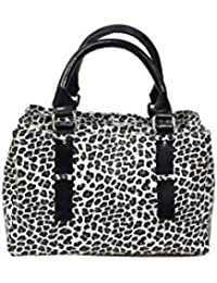 Essart PU Leather Hand-Held Bag With 3compartments, Cntre Compartment Close With Magnetic Closure And Other 2...