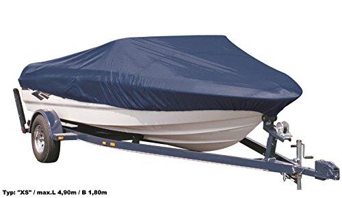 EXCOLO Winterplane Winterabdeckung für Boote Bootsabdeckung Persenning Größe XS/max.L 4,90m / B 1,80m in blau