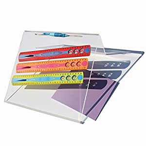 Writing slope for school, home or office - wide 35cm quality slope, set at the 20 degree angle for correct posture, with anti-slip features and pen rest (1)