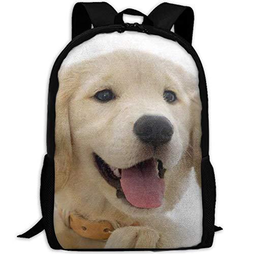 HOJJP Schultasche Golden Retriever Pup Anti Theft Laptop Backpack,Business Bags Water Resistant School Bookbag for College Travel Backpack Laptop and Notebook -