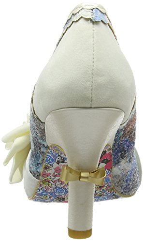 Irregular Choice Washington, Escarpins femme Blanc cassé (crème)