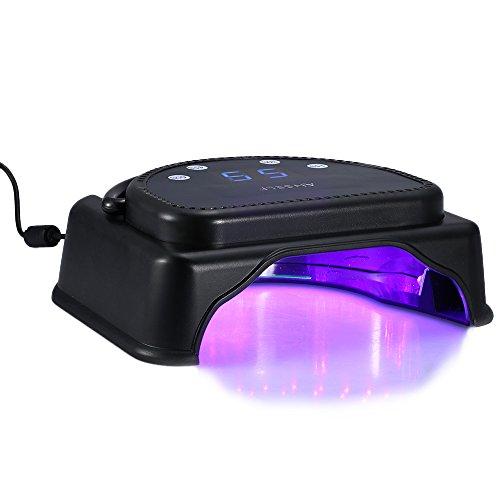 Anself 110-240V 64W Pro 32pcs Nail Dryer LED della lampada che cura macchina con maniglia di sollevamento dello schermo LCD Touch Sensor potente del gel essiccatore Attrezzo del salone EU Plug