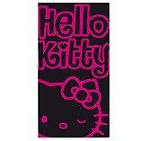 """Strandtuch """"Hello Kitty"""", schwarz/pink"""