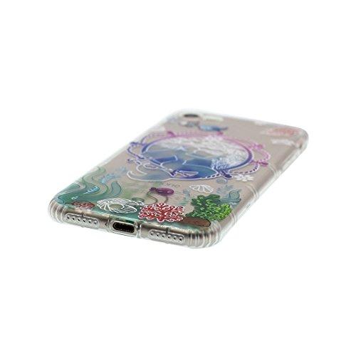 iPhone 7 Plus Custodia, Prova di scossa anti-graffio [ Cartoon Disney Cactus Ragazza ] TPU Silicone Trasparente Nuovo Gel Soft Case iPhone 7 Plus Custodia (5.5 pollici) durevole Cartoon Cover # # 6