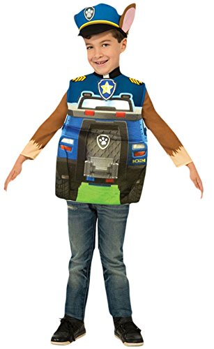 erdbeerloft - Unisex - Kinder Paw Patrol Chase Karneval Komplett Kostüm , Mehrfarbig, Größe 98-104, 3-4 (Zuma Paw Kostüme Patrol)