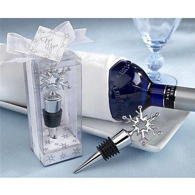 (MAN Chrom Weinflasche Stopper Favor Klassisches Thema Nicht-Personalisiertes Silber)