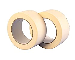 Twin Pack Premium Wide Masking Tape - 50m x 50mm (2