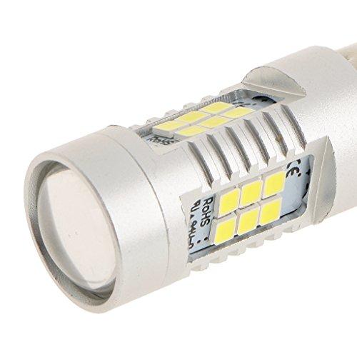 Baoblaze Feu de Recul 21SMD 1157 Blanc Lampe Phare Arrière Ampoule de Voiture