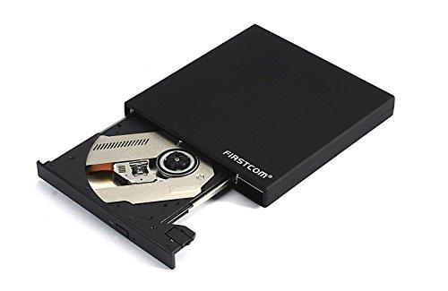 Compaq Dvd-brenner (DVD CD Laufwerk USB 2.0 Extern Slim, Farbe:Schwarz)