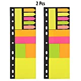 #10: PINZO™ Sticky Notes & Page Markers Binder Pack, 150 Assorted Size Notes, 125 Page Markers, 26 x 9.5cm, Assorted Colors (Pack of 2)