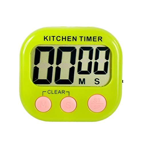 NAttnJf Orologio elettronico portatile di conto alla rovescia di cottura della cucina del temporizzatore di conto alla rovescia di alluminio Verde