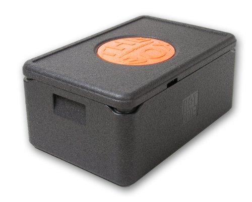 THE BOX Thermobox GN 1/1 groß, Art. 79881; Deckelfarbe: schwarz, Außenmaß 60 x 40 x 27,5 cm, Innenmaß 54 x 34 x 21 cm, Nutzhöhe 21 cm, 38 l. Pizza Box