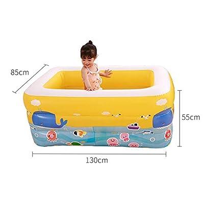 Piscines et bassins pour Enfants - Environnement PVC Portable Piscine rectangulaire pour Enfants Jouet de l'eau Piscine Gonflable au Sol pour bébé Piscine pour bébé Bassin pour bébé Intérieur