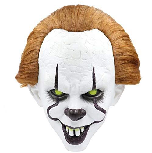 Kostüm Erstaunlich Scary - ZTYD Halloween Maske, Böse Maske Kopfbedeckung Clown Returning Soul Kostüm Horror Cosplay Scary Latex Realistische Requisiten Maske Party Kostüm Requisiten für Erwachsene