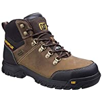 Caterpillar Mens Leather S3 Boots Safety Work Ankle Black Waterproof Steel Toe Shoe