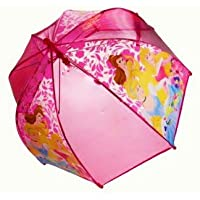 Disney Princess Fairies - Pink Dome Childrens Umbrella Brolley Featuring Sleeping Beauty, Cinderella and Belle