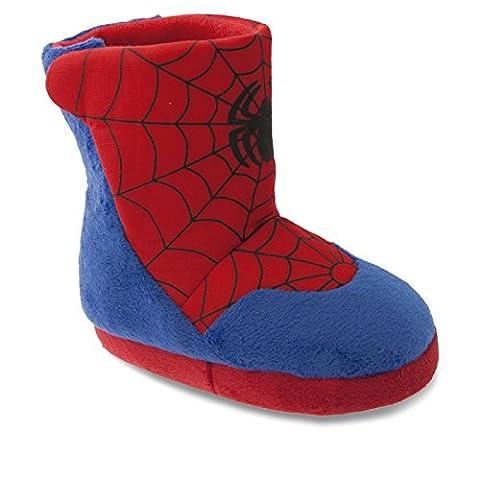 SAMs Kinder Tier Hausschuhe Disney Spiderman Haus Boots Pantoffel Schlappen Puschen Slipper Qualität 25-34, TH-Spidermanboots, Größe 25/26