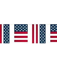 CREATIVE - Banderas para Fiestas con diseño de Bandera de EE.UU., 10 m