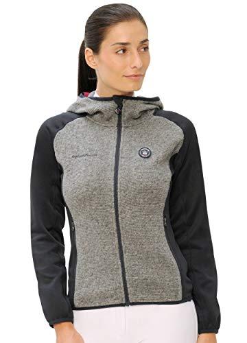 SPOOKS Damen Jacke, leichte Damenjacke mit Kapuze, Herbstjacke - Tabea Jacket Navy/Dark Grey XL