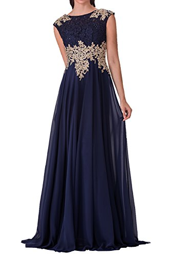 Charmant Damen Navy Blau Festliche Kleider Damen Kleider Ballkleid Lang Elegant Cocktailkleider Lang Navy Blau