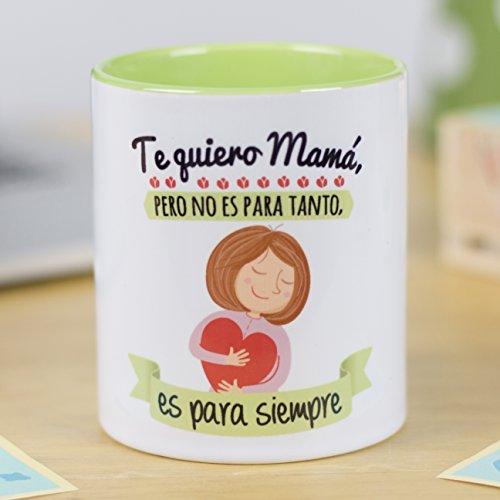 La Mente es Maravillosa | Taza cerámica de café o desayuno | Regalo original para MADRE | Te quiero mamá, pero no es para tanto, es para siempre | RESISTENTE 100% al microondas y lavavajillas | Taza con mensaje divertido para mamá | BONITA y EXCLUSIVA | Esmaltado brillante de GRAN CALIDAD | Frases y dibujos creativos grabados en la superficie | Perfecta para cualquier bebida, infusión o té | Mamá te quiero