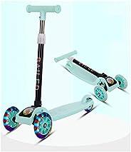 LELE Folding 3 Flash Wheel Scooter for Kids Boys Girls Adjustable Height PU Wheels Best Gifts