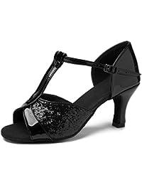 HIPPOSEUS Zapatos de Baile Latinos estándar de Mujer Modelo 259