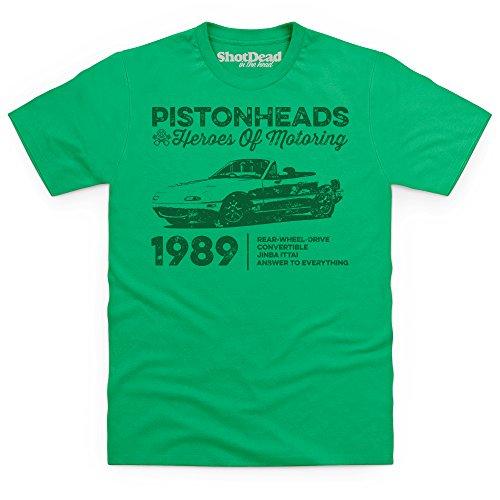 pistonheads-heroes-of-motoring-convertible-t-shirt-pour-homme-vert-celtique-m