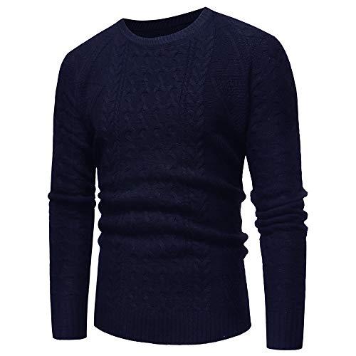 TWBB Strickpullover,Herren Sweater Drucken Sweatshirt Pullover Schlank Oberteile Tops