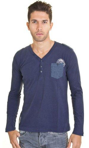 Langärmliges T-Shirt Stace Marine KaporalHerren Blau