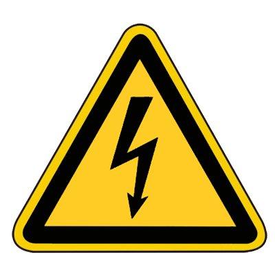 Warnzeichen Warnschild Hinweisschild - Warnung vor gefährlicher elektrischer Spannung Folie 100 mm #45-105-0023