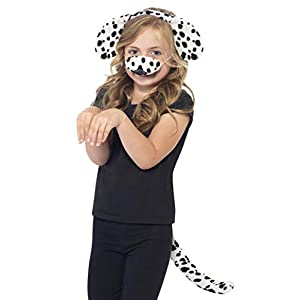 Smiffys Dalmatian Kit with Ears on Headband Tail and Nose