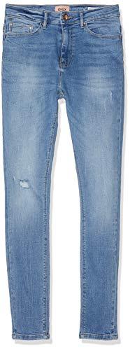 Only nos onlpaola highwaist sk jns bb azg809 noos jeans skinny, blu (light blue denim light blue denim), 36w x 34l (taglia produttore: s) donna