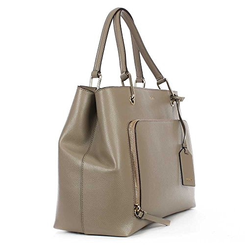 DKNY Sac En Cuir Besace Moyen D'argile Molle Bryant Taupe Leather