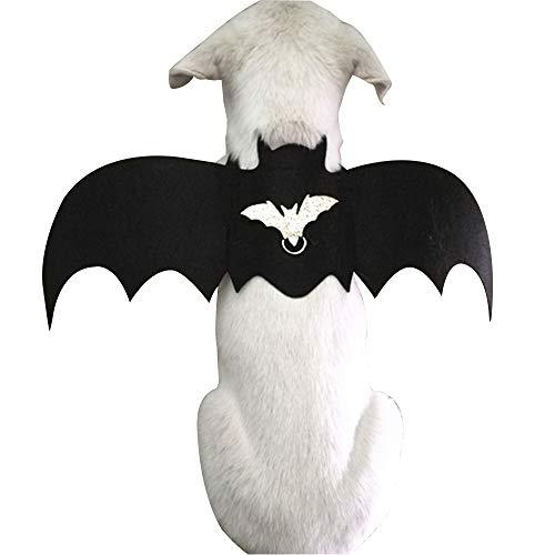 Up Kostüm Für Dress Halloween Ohne - AHMI Kleine Tier Haustier fledermausflügel Halloween Party Dekoration Cosplay Hund Katze Tuch Haustiere Dress up kostüm S Ohne Seil