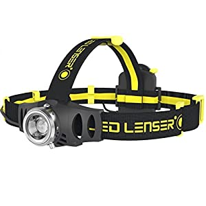 LED Lenser iH6R Industrial Rechargeable LED Head Torch Black & Yellow