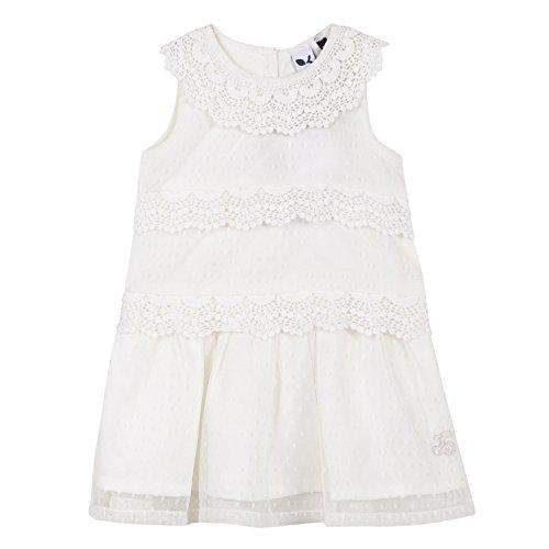 3 pommes Baby-Mädchen Kleid 3L31112, Weiß (Blanc Casse 19), 12-18 Monate Preisvergleich