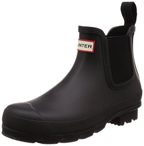 Hunter - Botas de Agua de Caucho Hombre, Color Negro, Talla 47 EU
